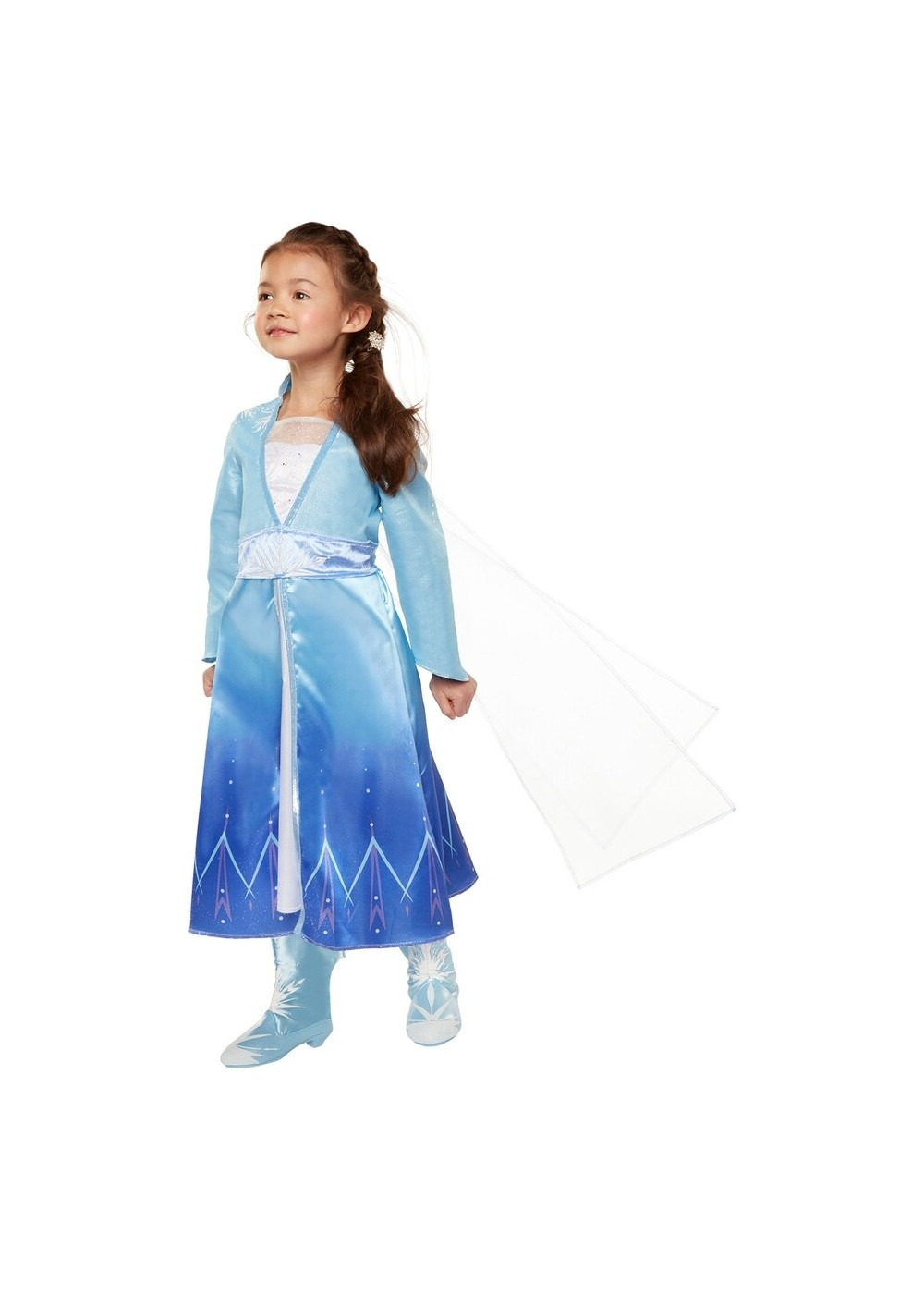 Kids Frozen 2 Elsa Dress With Cape