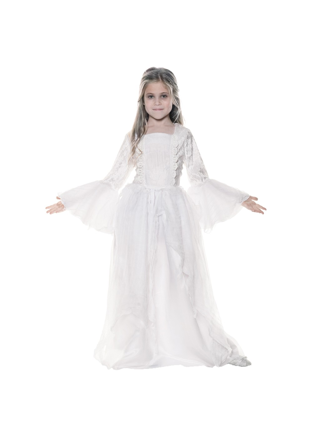 Kids Ghostly Spirit Girls Costume Child