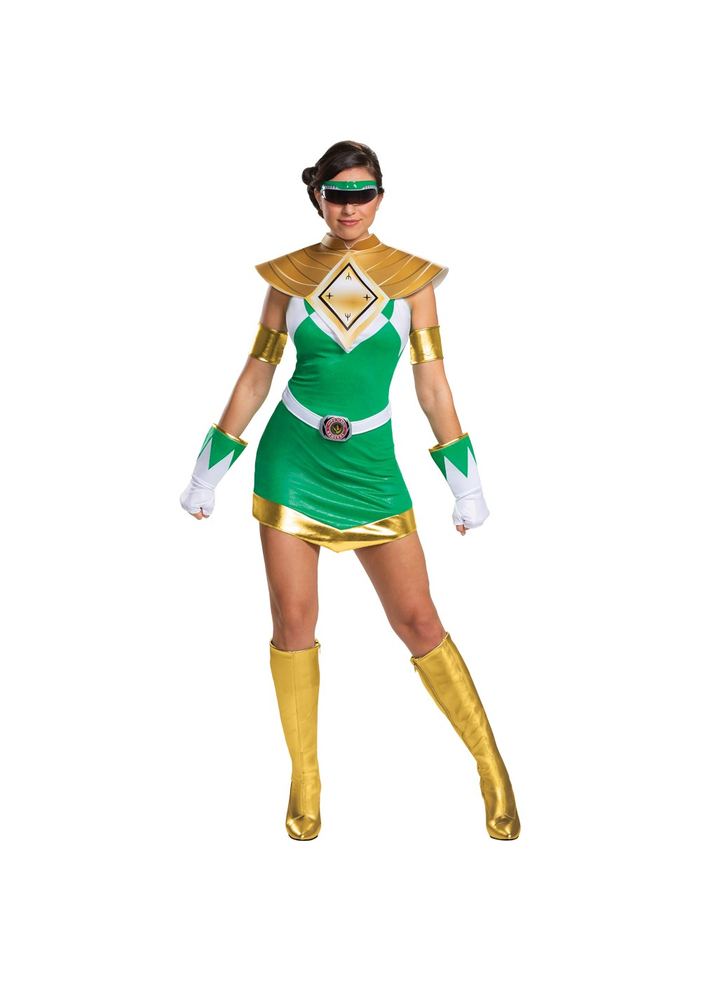 Green Ranger Womens Costume Mighty Morphin