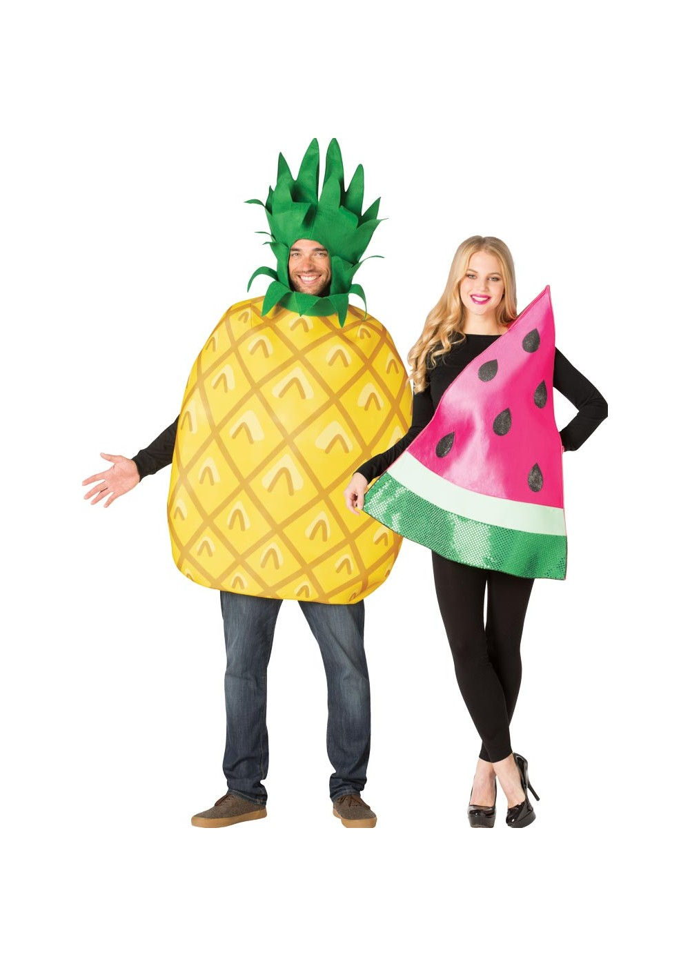 Pineapple And Watermelon Couples Costume
