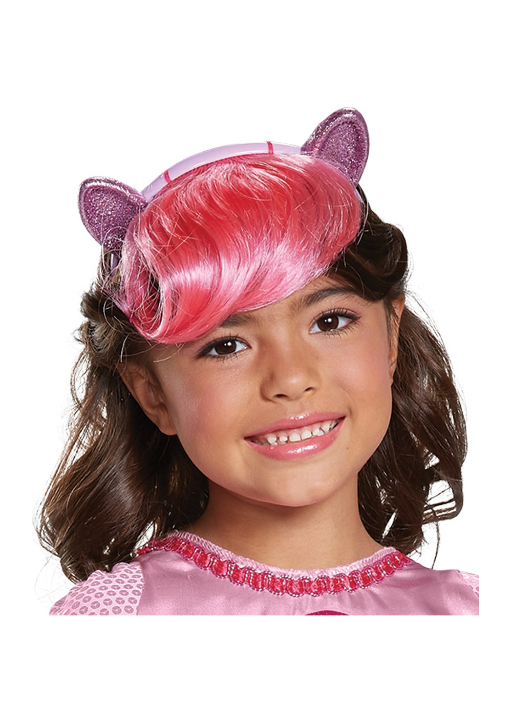 Kids Pinkie Headpiece With Hair Child Little Pony
