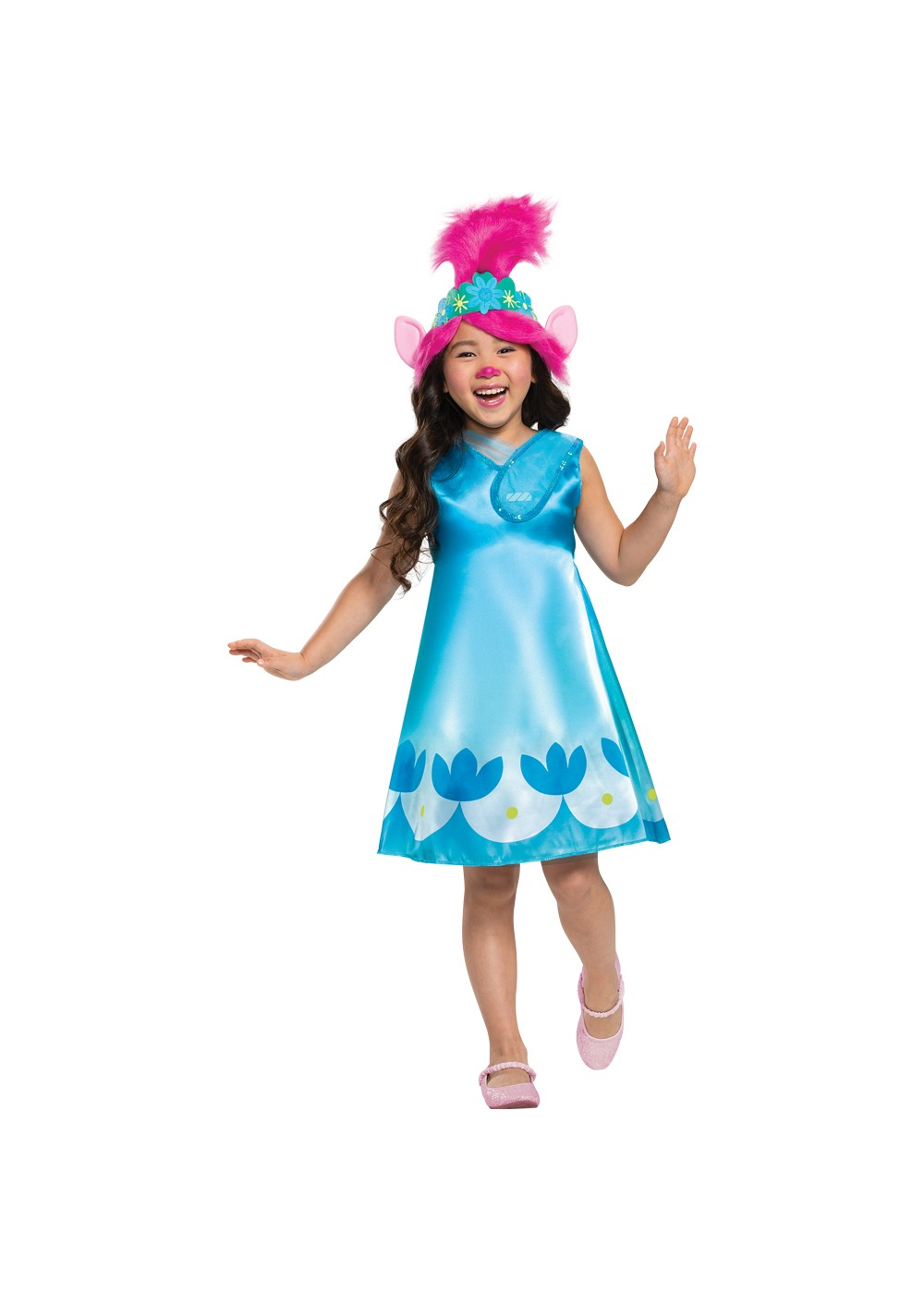 Kids Poppy Trolls Movie Toddler Costume