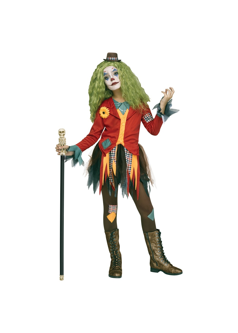 Rowdy Clown Costume Womens